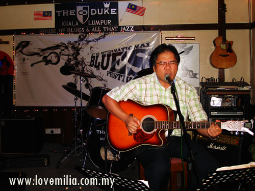 he loves music and love to sing... i was shocked for the first time listen to him when he sang in front of me :)