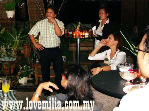 evening time with Dato' Idris Jala at Duta Vista