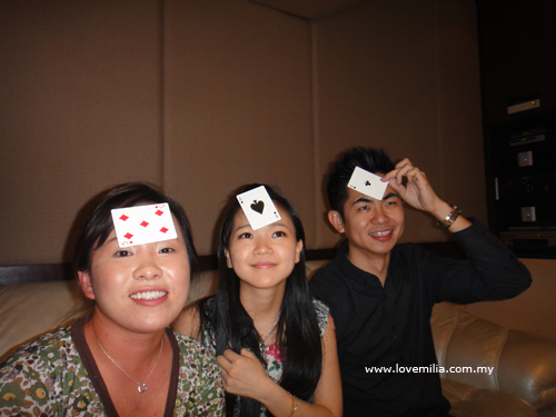 silly moment - playing cards ( me, siao shi & Eric )