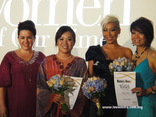 Miss Tara, Emilia Tan, Gillian Hung & Winnie Loo on the stage