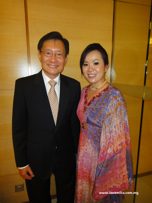 Emilia & Datuk Dr. Victor Wee, Chairman of Malaysian Tourism Promotional Board