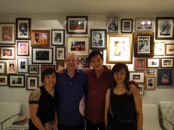 from my left, frank, tony & conie su at Kenchara opening