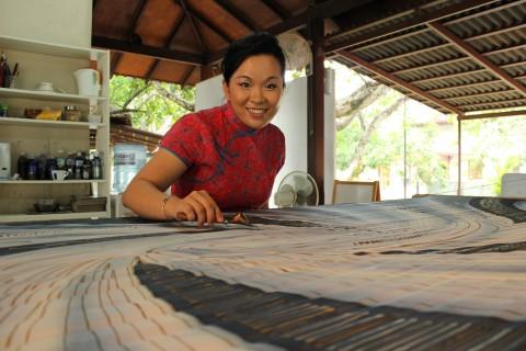Batik artist Emilia Tan