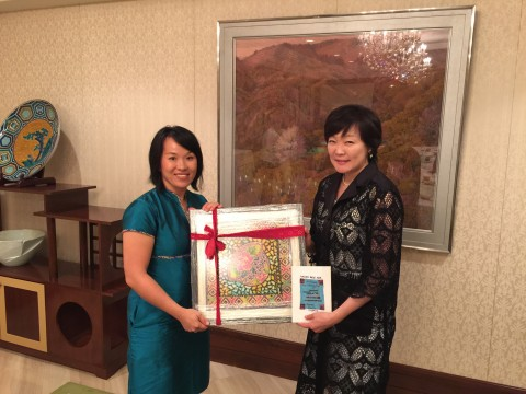 with Wife of Japan Prime Minister, madam Akie Abe