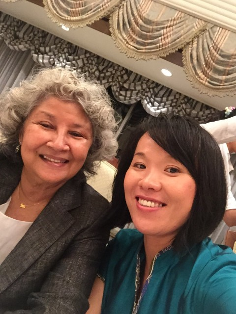 With Dato' Faridah, founder of Kuala Lumpur Performance Art Centre ( KLPAC)
