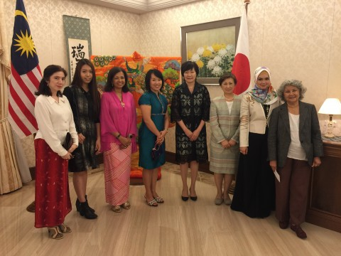 evening dinner with Madam Akie Abe, Wife of Japan Ambassador in Malaysia