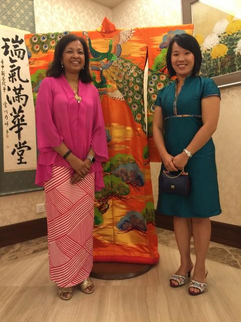 with Datin Marina Mahathir