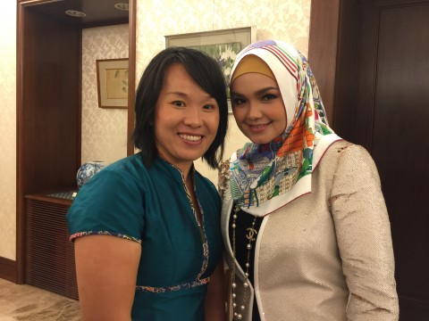 with Dato Siti